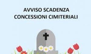 Avviso scadenze concessioni cimitero Piateda Centro a. 2021