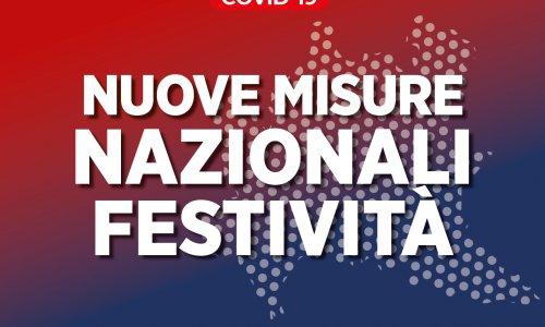 Nuove misure nazionali festività
