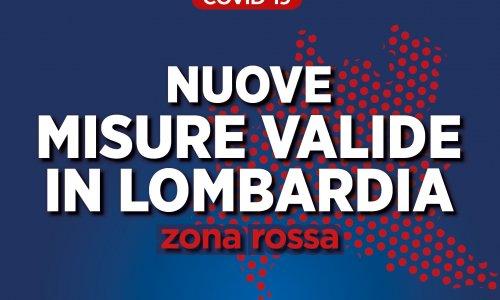 Nuove misure valide in Lombardia - Zona rossa