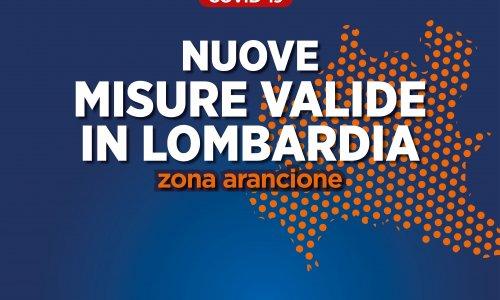 Nuove misure valide in Lombardia - Zona arancione