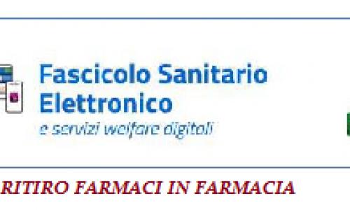 Fascicolo sanitario elettronico - Ritiro ricette in farmacia - Emergenza Sanitaria Coronavirus