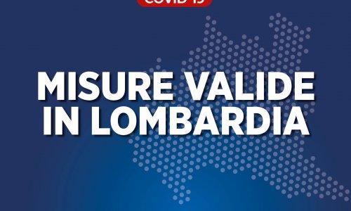 Nuove misure valide in Lombardia