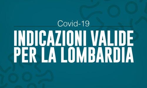 Emergenza coronavirus - Indicazioni valide per la Lombardia